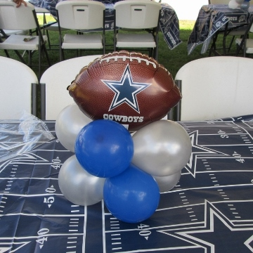 Dallas Cowboys 3rd Birthday Party – Centerpiece
