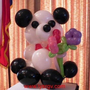 Panda Bear with Flowers – Sculptures
