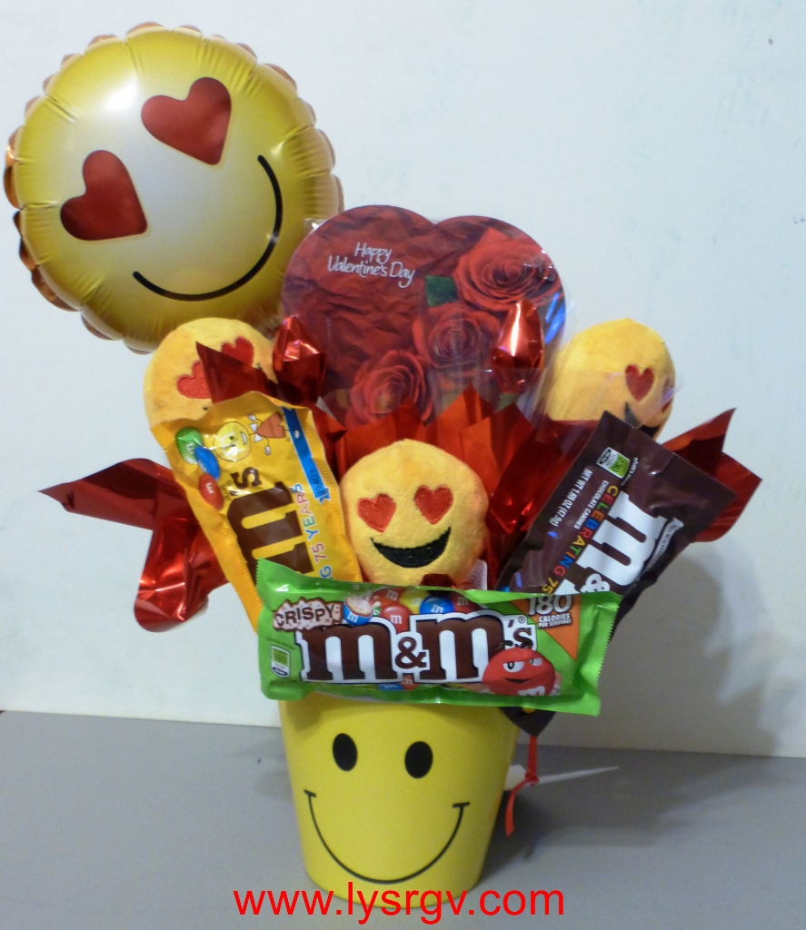 Description. Emoji Valentine   Candy Bouquets