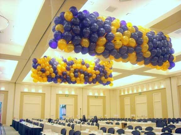 Blue & Gold - Drops/Releases, Lift Your Spirits Balloon Decor, McAllen, TX