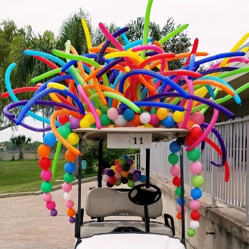 Golf Cart Rainbows – Sculptures