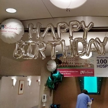 Rio Grande Regional Hospital Happy Birthday Letters & Numbers