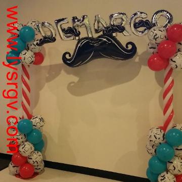 Mustache Birthday Party – Arch