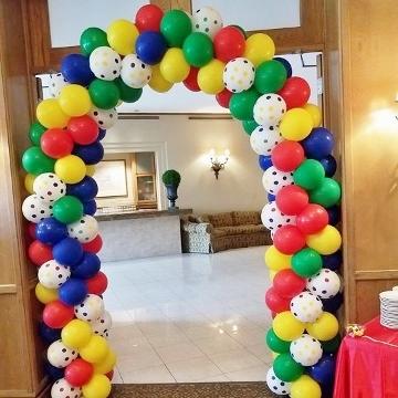 1st Birthday Rainbow Balloon Arch