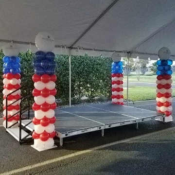 American Flag Columns